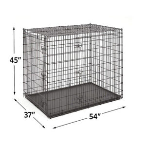 Dog Crate - XXL - 54x37x45 - Includes Divider Panel & LeakProof