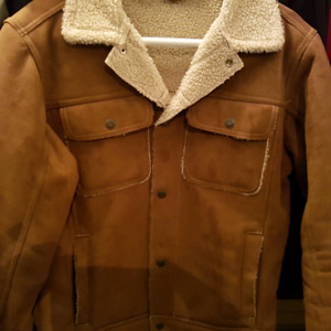 Men's Small Suede/Nubuck Leather Jacket - like new!