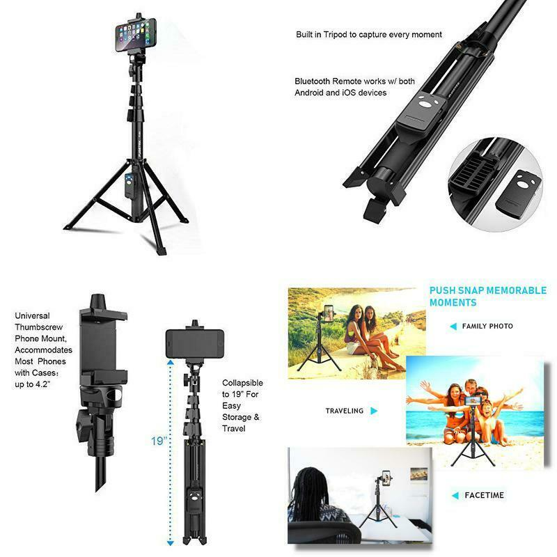Selfie Stick  Tripod Fugetek, Integrated, Portable All-In-On