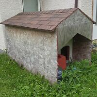 large 2 room dog house , shingles in great shape