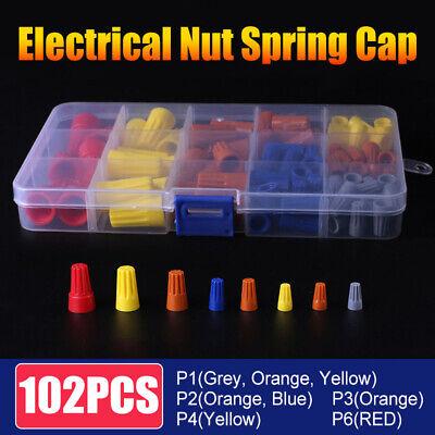 102pcs Wire Connector Twist Electrical Nut Spring Cap Assortment Set P1p6