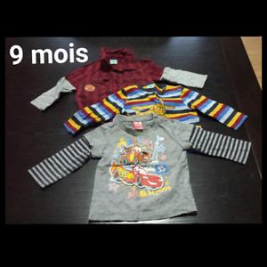Vêtements bébé garçon 0 a 12 mois