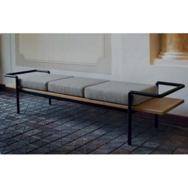 00A-PO-Vintage/Loft/Industrial Solid Wood Bench  Cushion