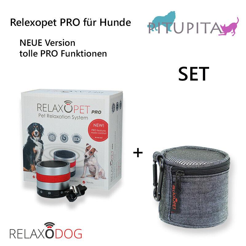 RelaxoPet®: RelaxoDog PRO + Tasche Tasche Entspannungsmusik für Hunde Beruhigung