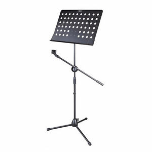 Music Conductor Stand Adjustable Tripod Holder+Microphone Holder