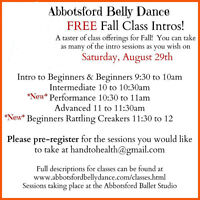 Free Belly Dance Introduction Class