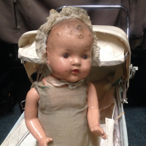 Vintage Baby Doll with Carriage