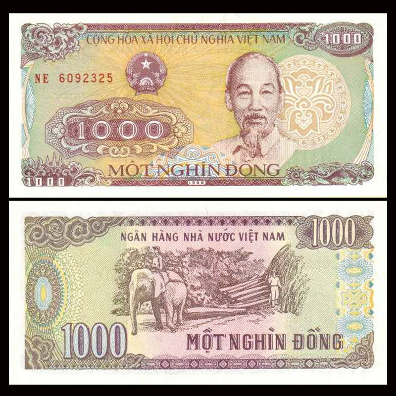 One Bundle of 100pcs Vietnam Viet Nam 5000 Dong,1991,P-101,Uncirculated