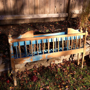 Antique folding crib display piece