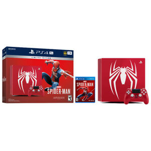 Limited Edition Spider-Man PlayStation 4 Pro 1TB Bundle  - BNIB