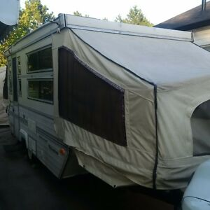 1991 tent trailer with hard sides.