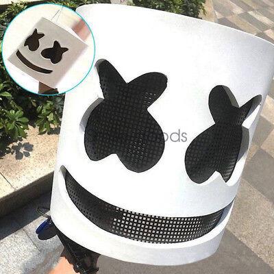 MarshMello DJ Mask Full Head Helmet Prom Party Cosplay Mask Bar Music Props Gift (Helmet Party)