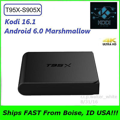Super Mini T95X Android 6.0 TV Box 2G 8G Amlogic S905X Quad Core 4K Kodi 16.1