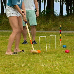 Croquet Set 6 player in carrying case - outdoor lawn game