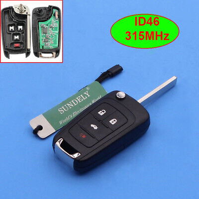 Keyless Entry Remote Key Fob 4 Button 315Mhz OHT01060512 for Chevrolet 2010-2017