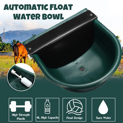 Automatic Plastic Farm Water Bowl Float Valve Drinking Stock For Horse Sheep 4l