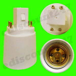 g24 to e27 4 pin adaptor socket led converter lamp. Black Bedroom Furniture Sets. Home Design Ideas