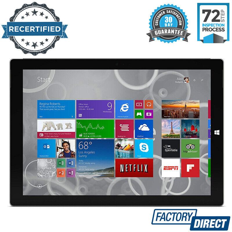 "windows tablet - MICROSOFT SURFACE PRO 3 12"" INTEL CORE i7 256GB 8GB RAM TABLET WINDOWS 10 TAB"