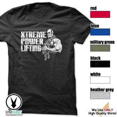 XTREME POWERLIFTING Gym Rabbit T-Shirt Workout Gym Fitness Motivation D716 (Xtreme Motivation)