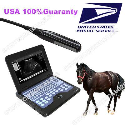 Vet Veterinary Laptop Ultrasound Scanner Machine 7.5mhz Rectal Probeusa Fedex