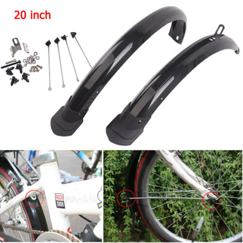 20inch Bicycle Front/&Rear Fenders BMX Folding Bike Fender Mudguards P8 Universal