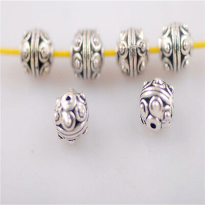 30pcs Bracelet Making Findings Crafts Metal Beads Spacers Charms 7.5mm