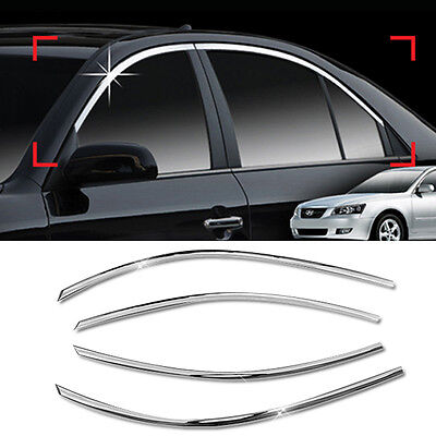 Chrome Window Frame Garnish Molding Trim C118 For HYUNDAI 2006-2008 NF Sonata