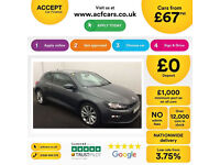 Volkswagen Scirocco GT FROM £67 PER WEEK!
