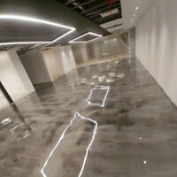 Epoxy Flooring - Metallic system - 514-561-1829