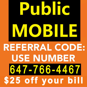 Please use This - $25 Referral Public mobile Code