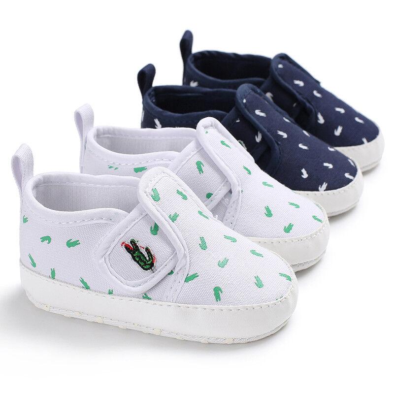 baby boy girl crib shoes white navy