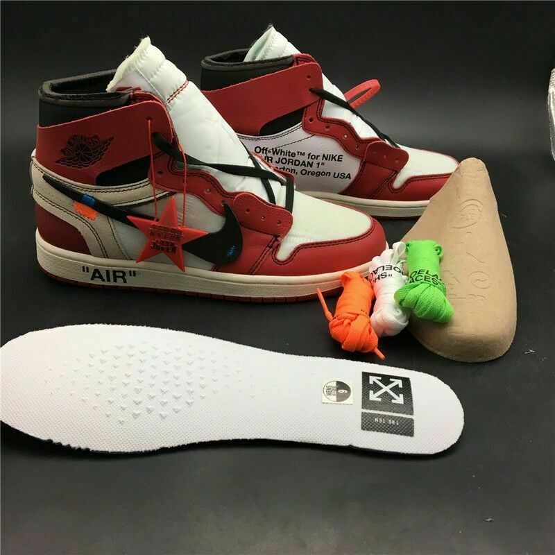 7c9fc86ed47427 OFF-WHITE x Nike Air Jordan Retro 1 - RED   WHITE - ALL Sizes - FREE  DELIVERY