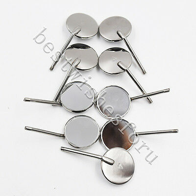 50pc Dental Inspect Odontoscope Stainless Steel Mouth Glass Mirrors Reflector 4