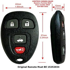 Entry Remote Key Fob Transmitter Clicker for GM Chevy Saturn Bui