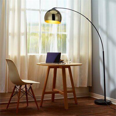 Versanora Arquer Arc Floor Lamp in Gold and Black ()