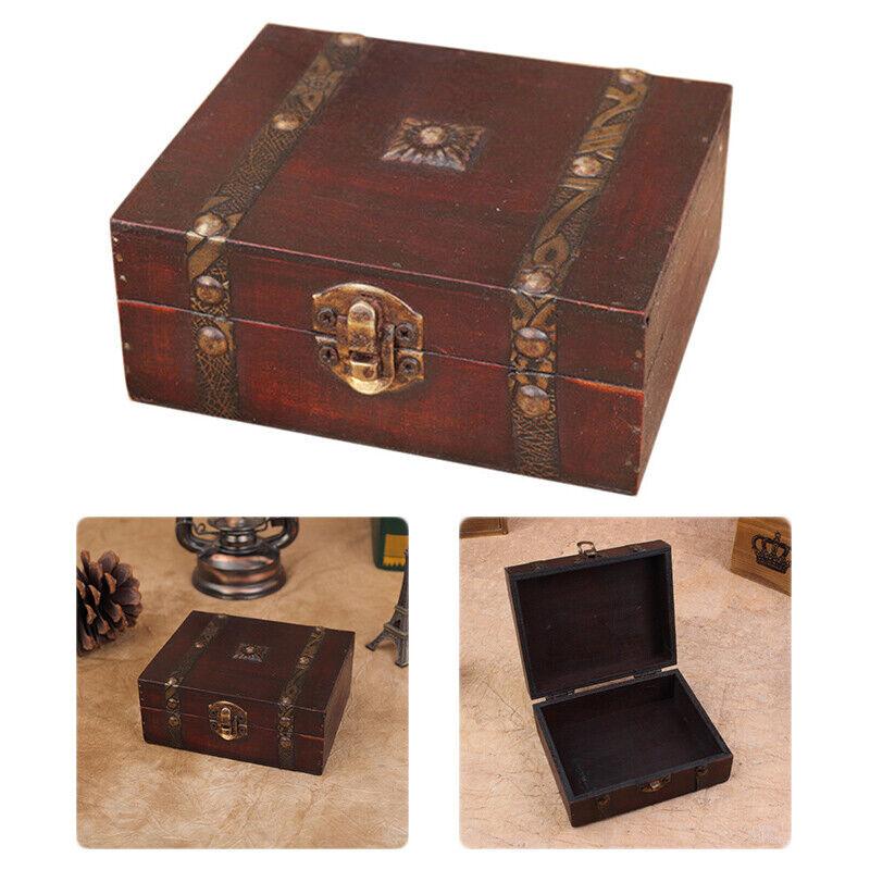 Decorative Trinket Jewelry Storage Box Handmade Vintage Wood