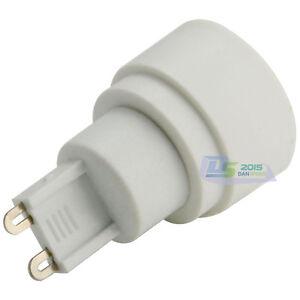 G9 - E14 Socket Base LED Light Lamp Bulbs Changer Adapter Converter Holder White