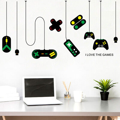 Gamer Vinyl Wall Stickers Video Game Play Room Joystick E Sports Decals Decor](Sports Room Decor)
