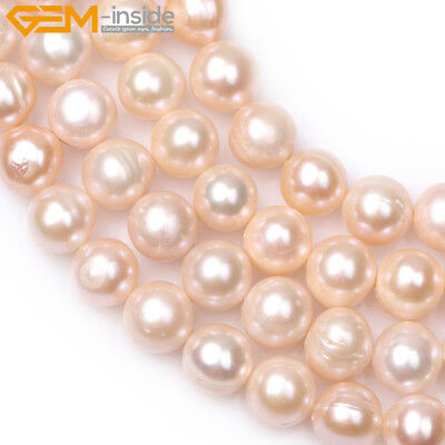 Freshwater Pearls Loose Craft Beads - 10-11mm Near Round Freshwater Pearls Loose Beads For Jewelry Craft Making 15