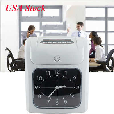 Electronic Employee Analogue Time Recorder Time Clock Card Monthlysemimonthly