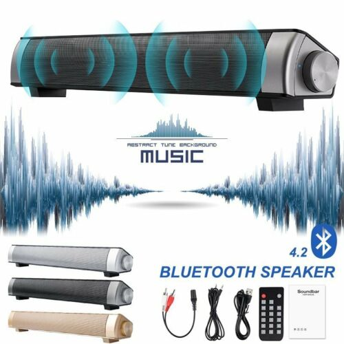 Wireless Bluetooth Sound Bar Speaker Super Bass Stereo Home TV Subwoofer System