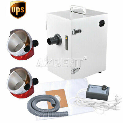 Us Dental Lab Digital Single-row Dust Collector Vacuum Cleaner 2x Suction Base