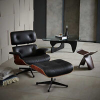 EAMES LOUNGE CHAIR WITH OTTOMAN REPLICA