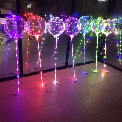 - LED Light  Transparent Balloon Wedding Birthday Xmas Party Lights Decoration
