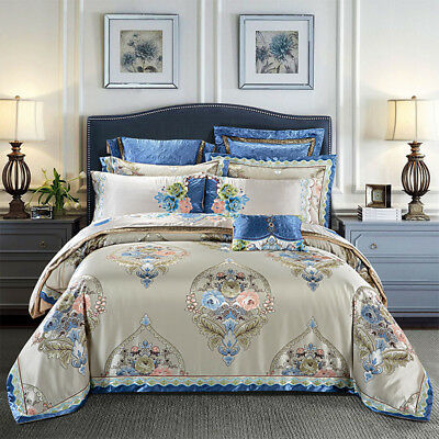 High-end satin cotton Bedding bag Luxury Royal duvet cover bed cover pillowcases