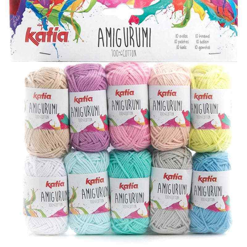 Katia ::Amigurumi #S01:: 100% cotton 10 skeins by 10 g each