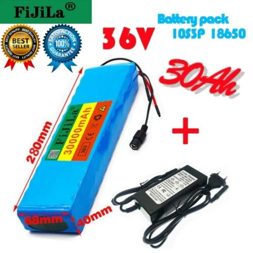 36V 30Ah Motorcycle Scooter E-Bike Battery Pack Li-Ion Battery 500W 25% Off Pack