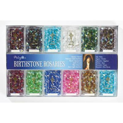 Birthstone Rosary Beads Opalescent Colored Beads BEAUTIFUL Specify Month
