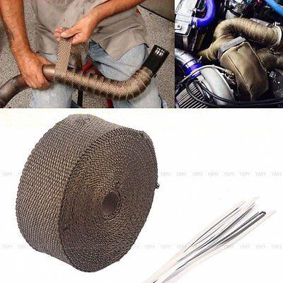 10M Hitzeschutzband Krümmerband Auspuffband Breit Krümmer mit 10 Binder 1400°C