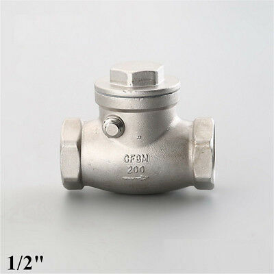 Swing Check Valve 12 Inch Npt Non-return Stainless Steel 304 Water Oil Gas